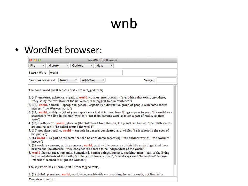 wnb Troponyms (ways to):