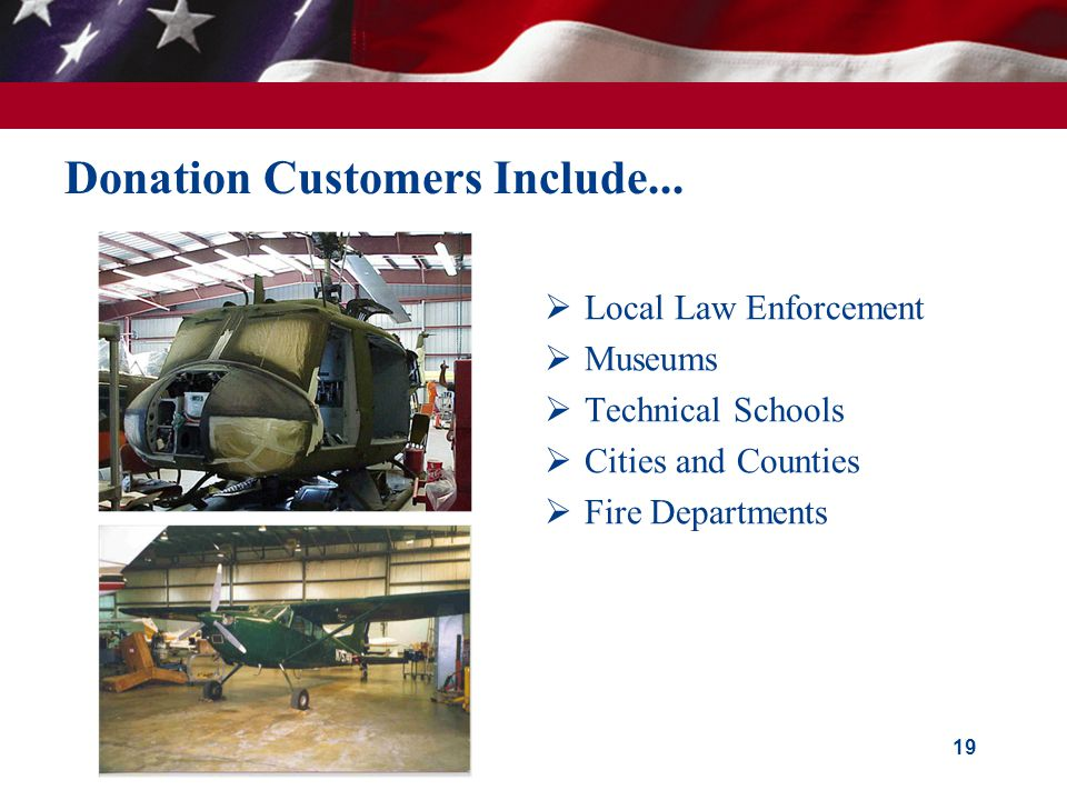 Donation Customers Include...