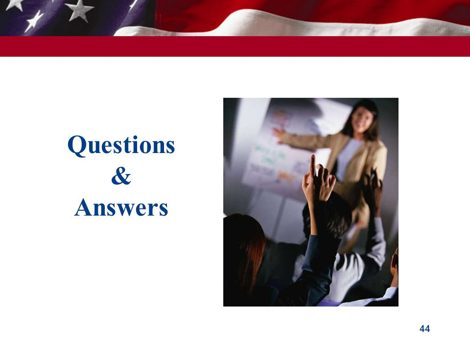 Questions & Answers 44