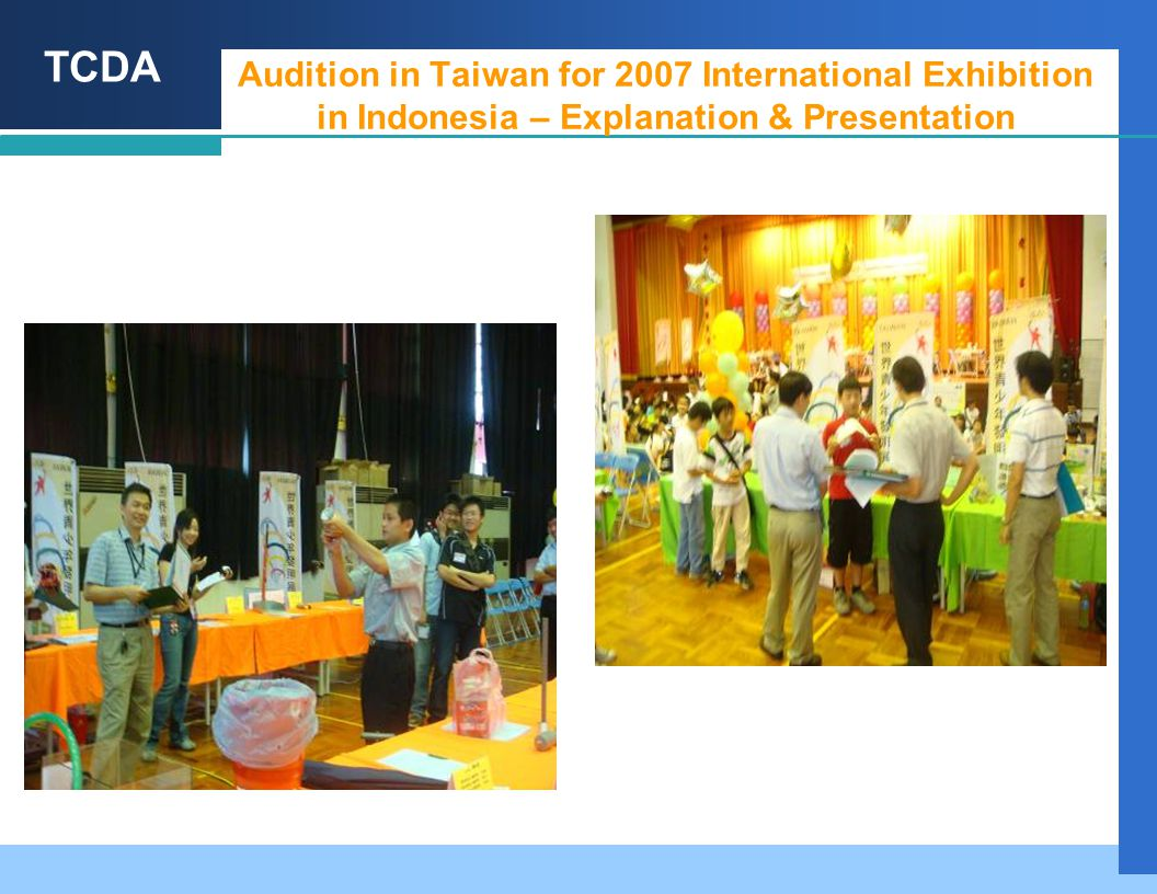TCDA Audition in Taiwan for 2007 International Exhibition in Indonesia – Explanation & Presentation
