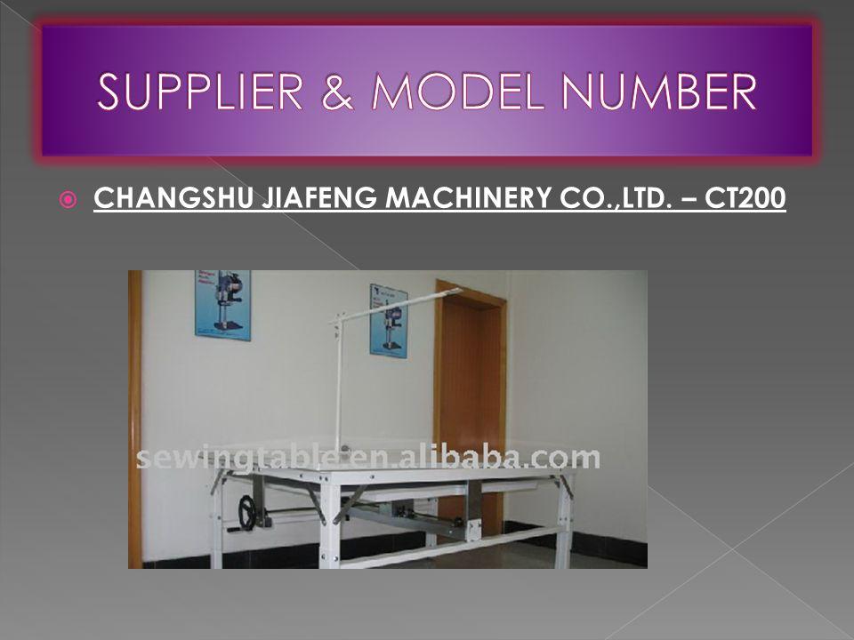  CHANGSHU JIAFENG MACHINERY CO.,LTD. – CT200
