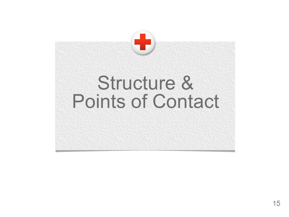 Structure & Points of Contact 15