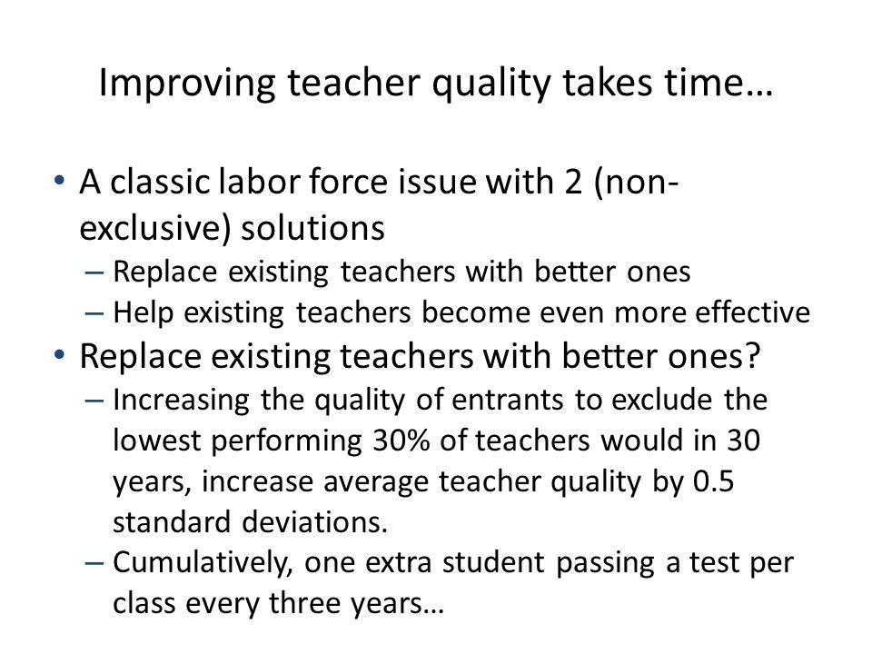 Impact: on teachers