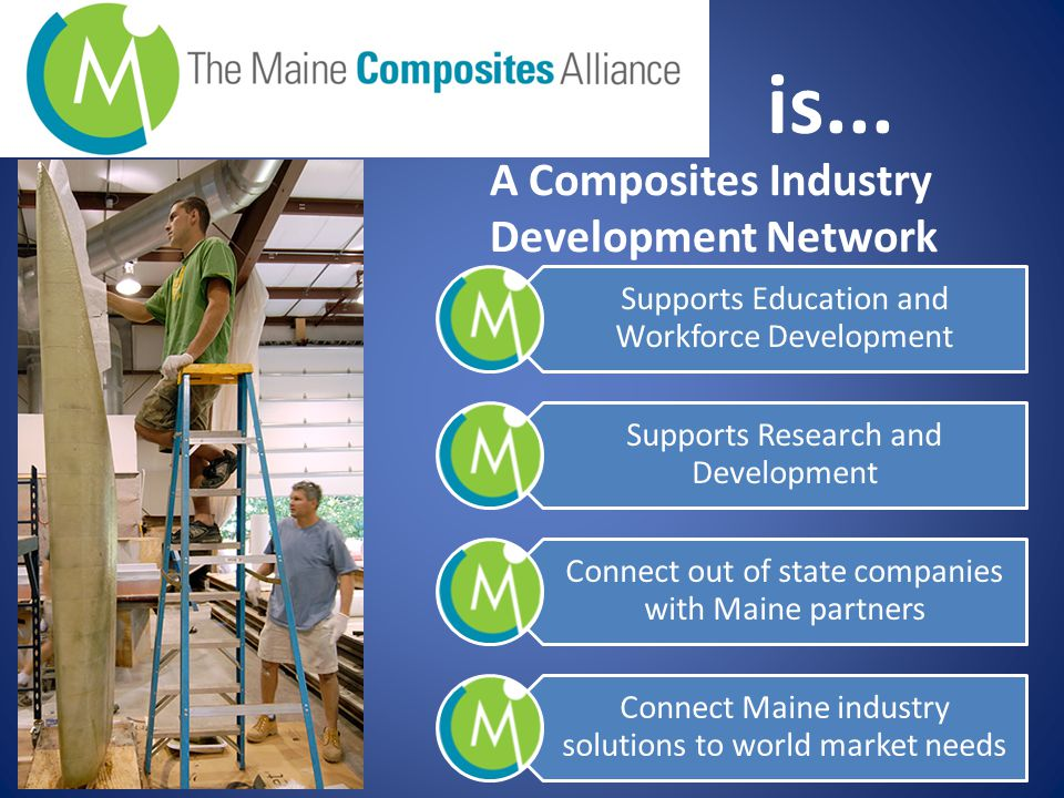 Contact Information: Stephen Von Vogt Maine Composites Alliance 511 Congress Street PO Box 129 Portland Maine, 04112 Phone +1 207-242-3521 Email pw@mainewindindustry.com www.mainecompositesalliance.org
