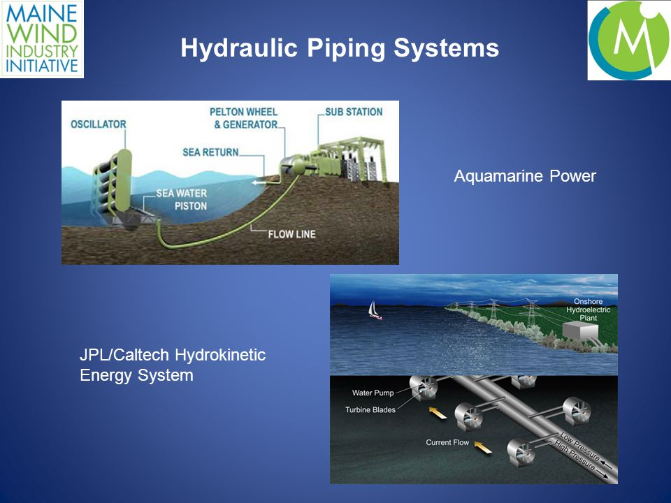 Hydraulic Piping Systems Aquamarine Power JPL/Caltech Hydrokinetic Energy System
