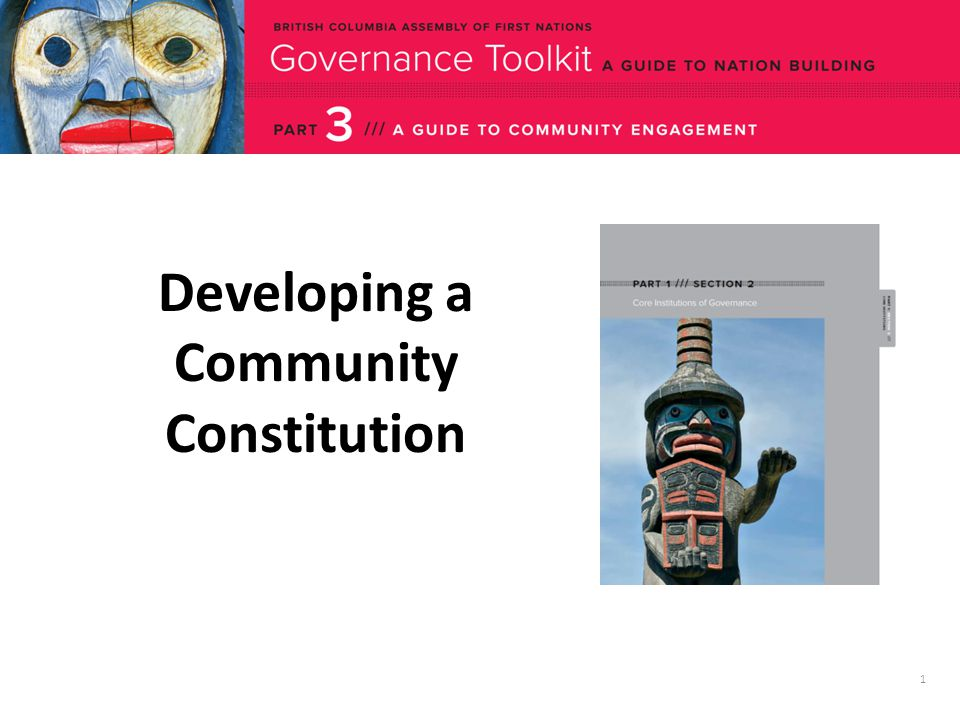 1 Developing a Community Constitution