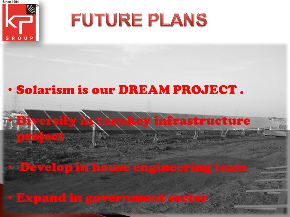Solarism is our DREAM PROJECT.