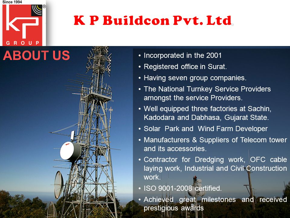 LARSEN & TURBO LIMITED WIPRO LIMITED MOSERBEAR SOLAR LIMITED INDU PROJECTS LIMITED LANCO SOLAR ENERGY PRIVATE LIMITED GSPC BHARAT SANCHAR NIGAM LIMITED BHARTI INFRATEL LIMITED RELIANCE INDUSTRIES LIMITED VODAFONE LIMITED TORRENT POWER LIMITED IDEA CELLULAR LIMITED INDUS TOWERS LIMITED TATA TELE SERVICES LIMITED TOYO ENGINEERING INDIA LTD (JAPANESE MNC).