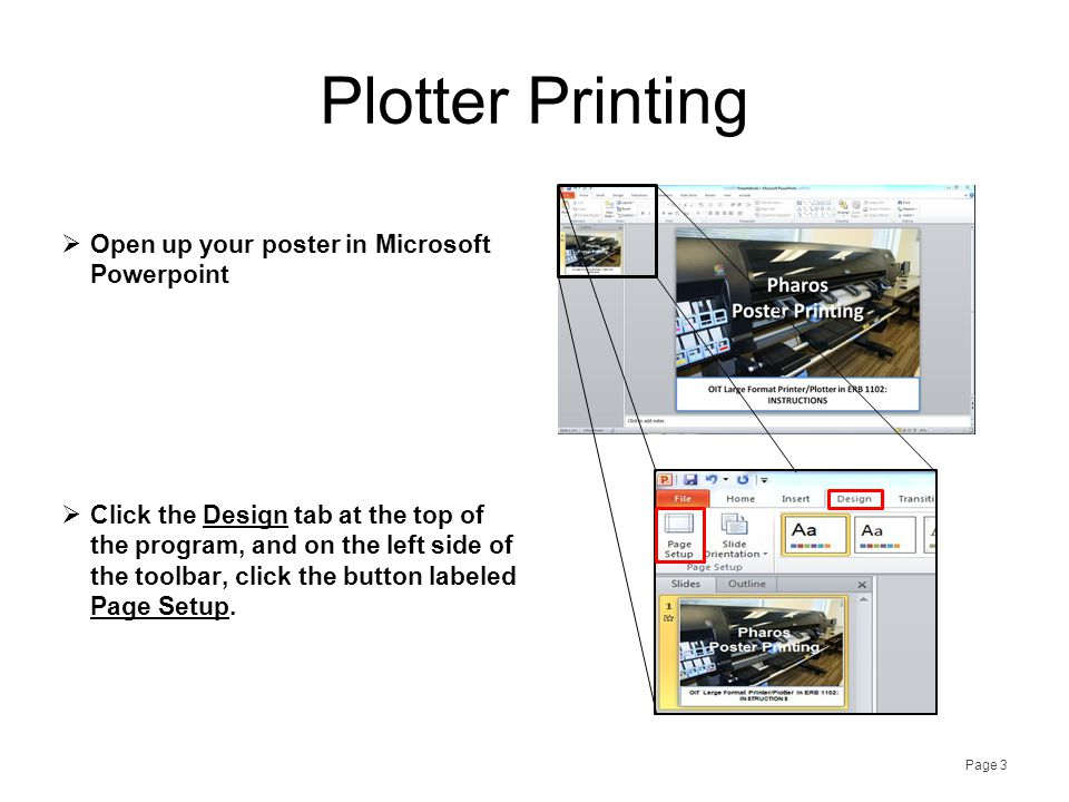 Plotter Printing  In the Slides Sized For drop down box, pick Custom.
