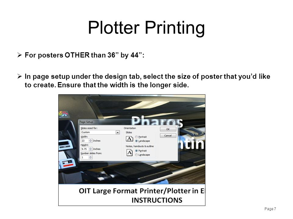 Plotter Printing Page 8  Go to File, and click Print.