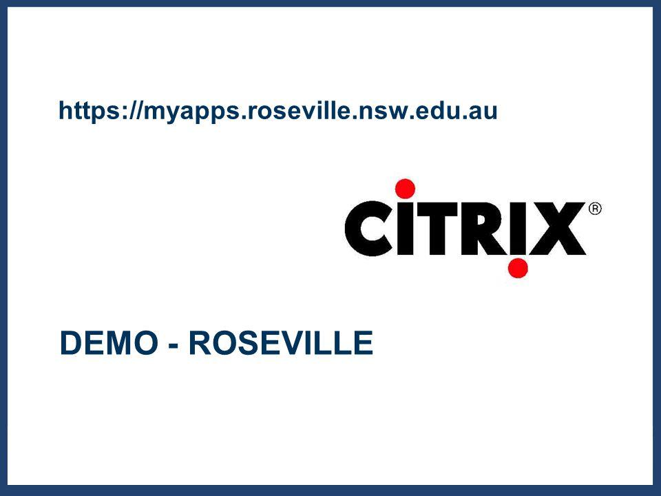DEMO - ROSEVILLE https://myapps.roseville.nsw.edu.au