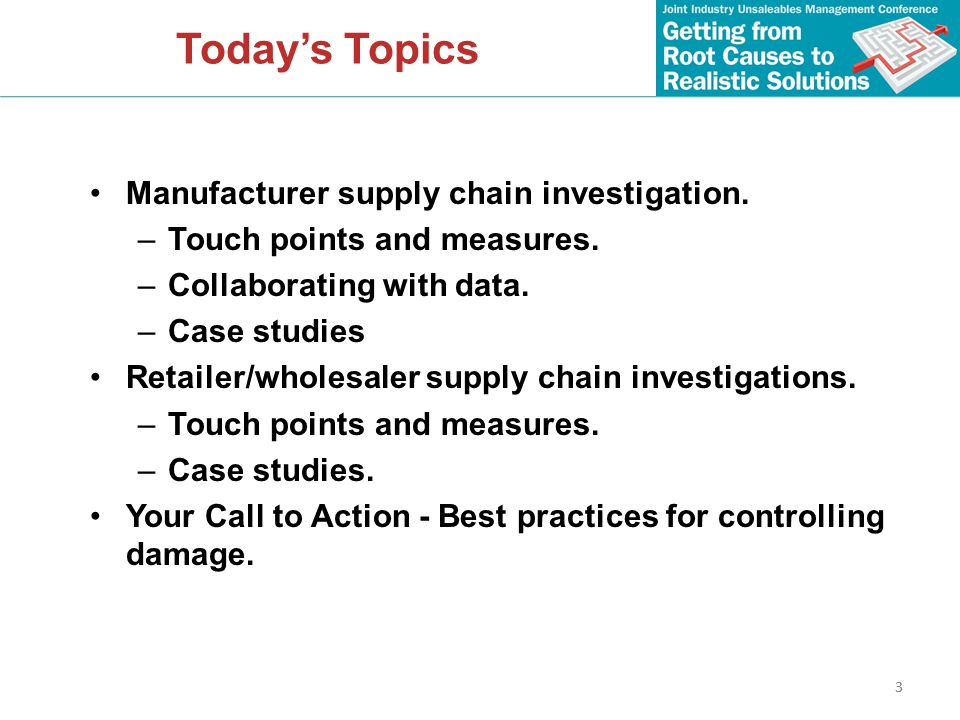 4 Supply Chain Touch Points Insert flow chart of various touch points (Don Aday) 4