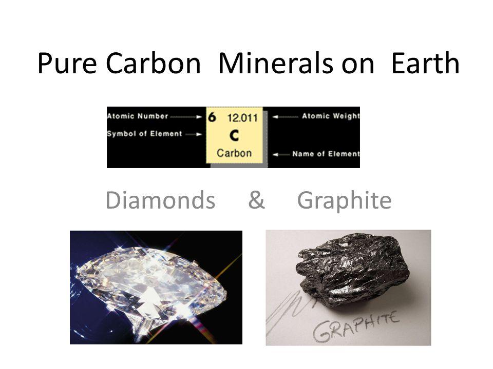 Pure Carbon Minerals on Earth Diamonds & Graphite