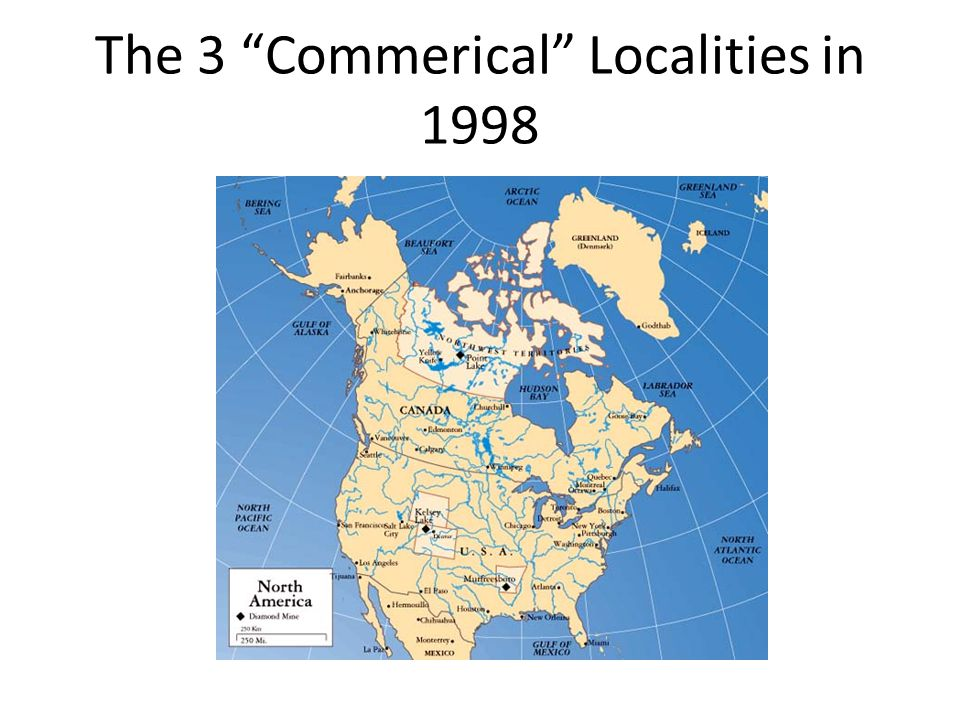 """The 3 """"Commerical"""" Localities in 1998"""