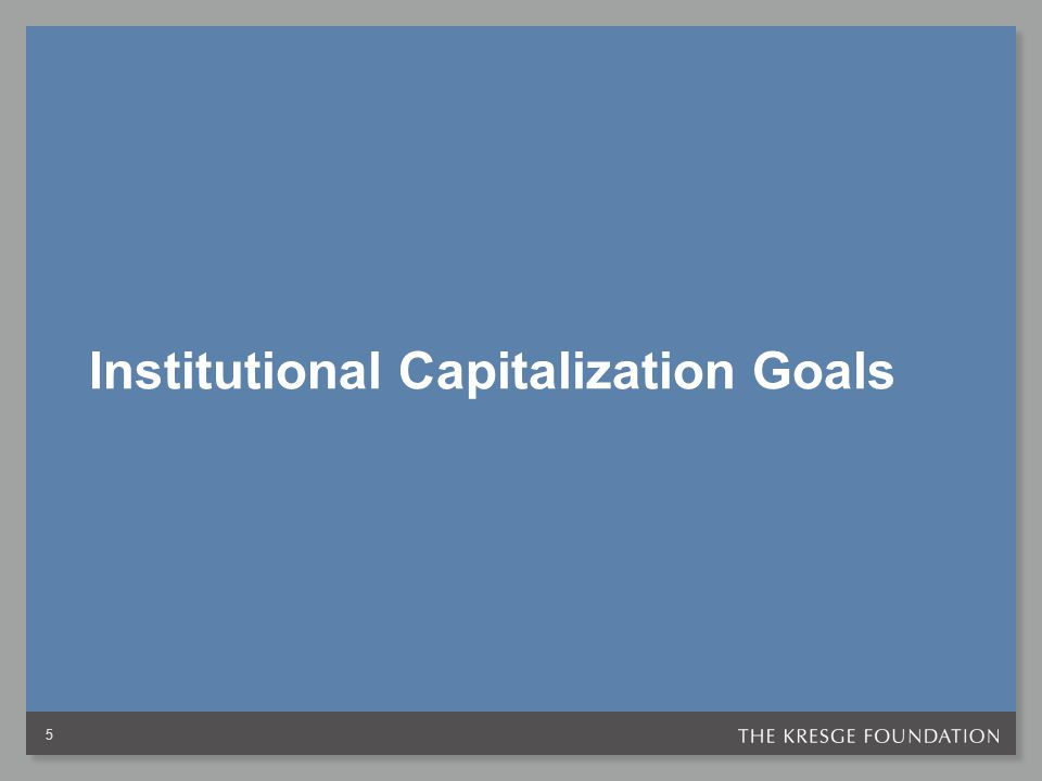 Institutional Capitalization Goals 5