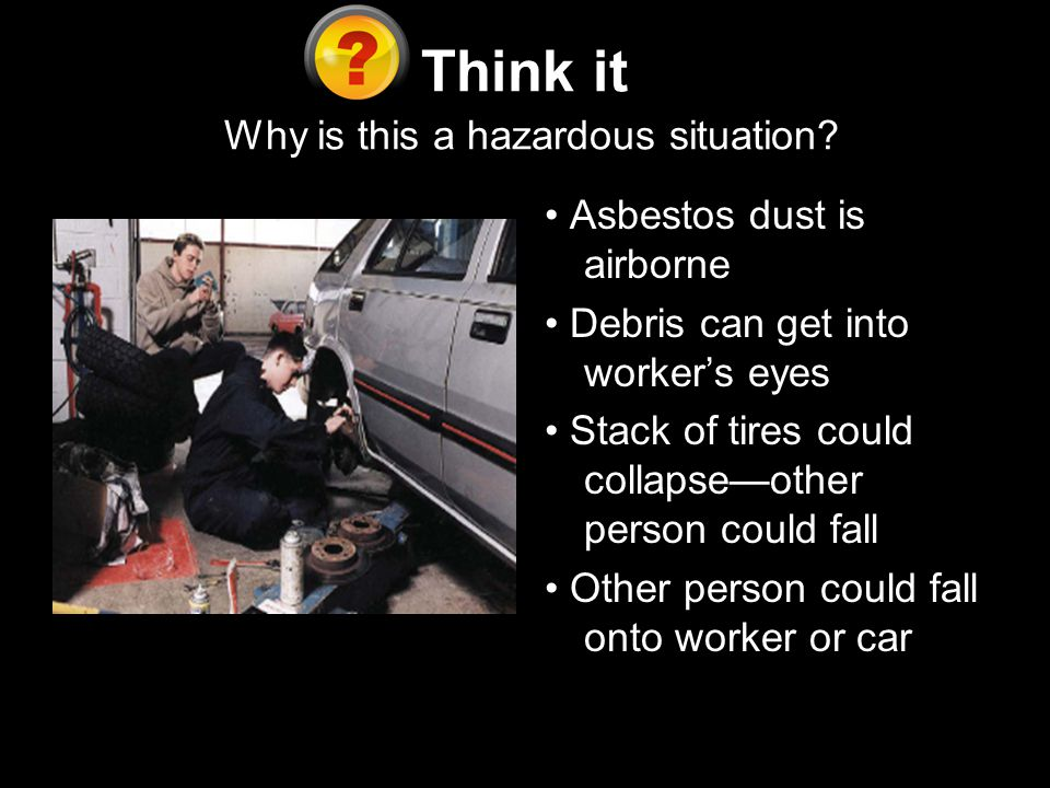 Think it Why is this a hazardous situation.