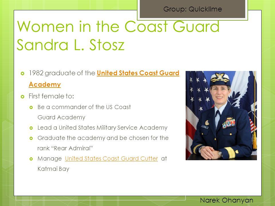 Women in the Coast Guard Sandra L.