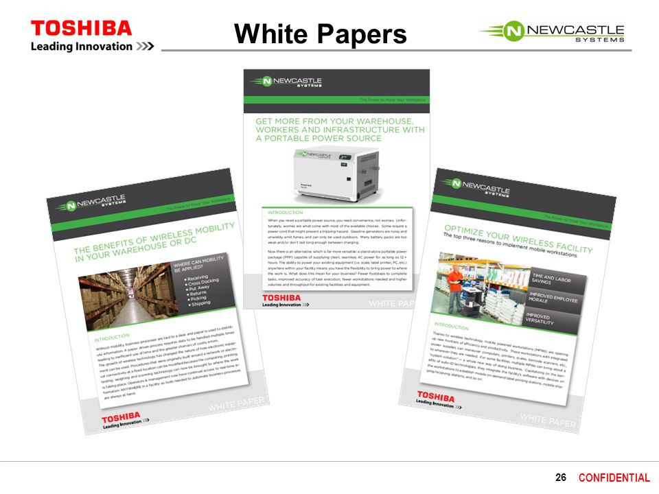 26 CONFIDENTIAL White Papers