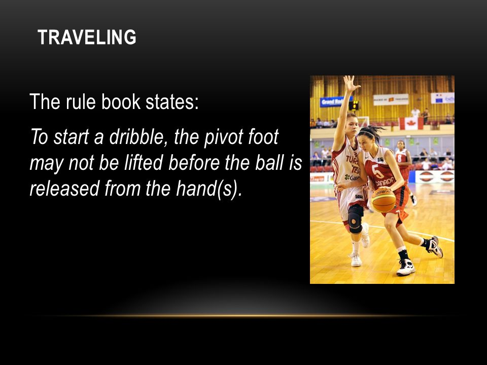CHANGING PIVOT FEET A player establishes a dominate pivot foot to square to the basket.