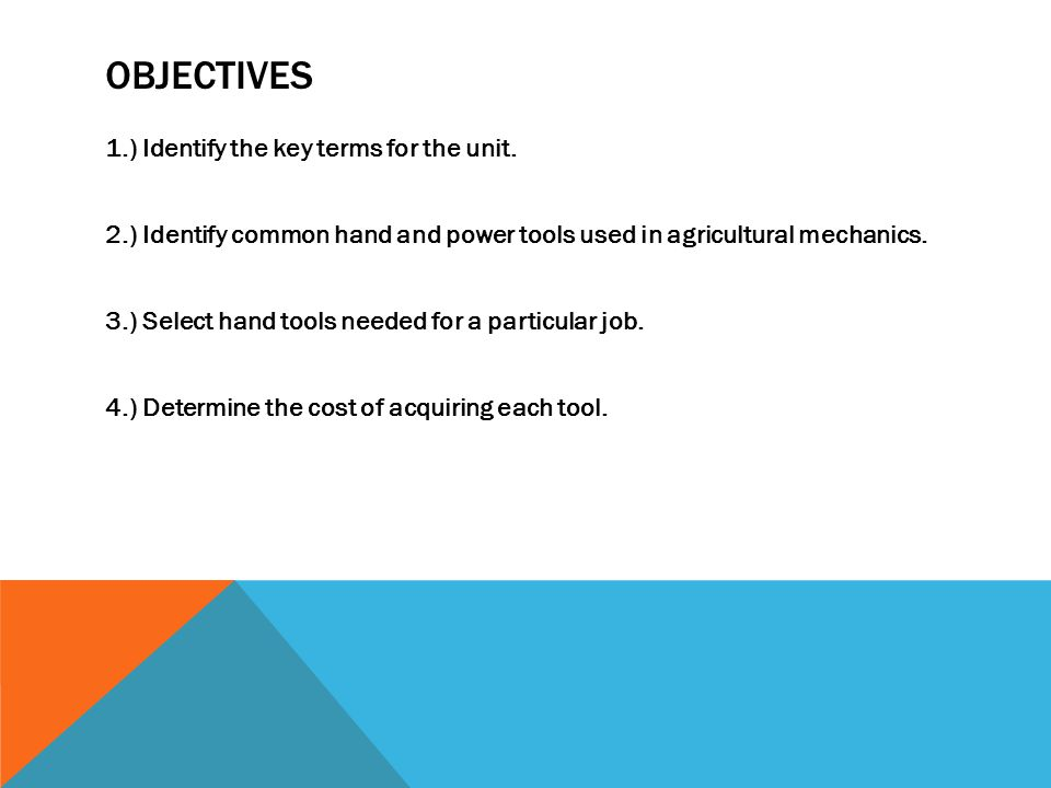 OBJECTIVES 1.) Identify the key terms for the unit.