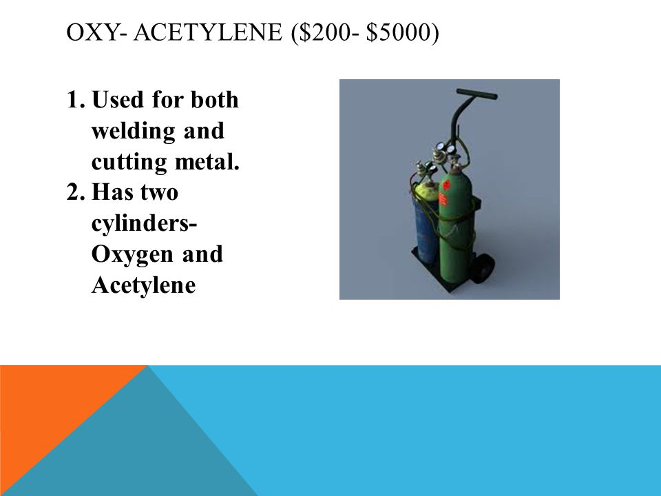 1.Used for both welding and cutting metal.