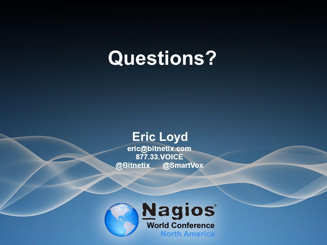 Questions Eric Loyd eric@bitnetix.com 877.33.VOICE @Bitnetix@SmartVox