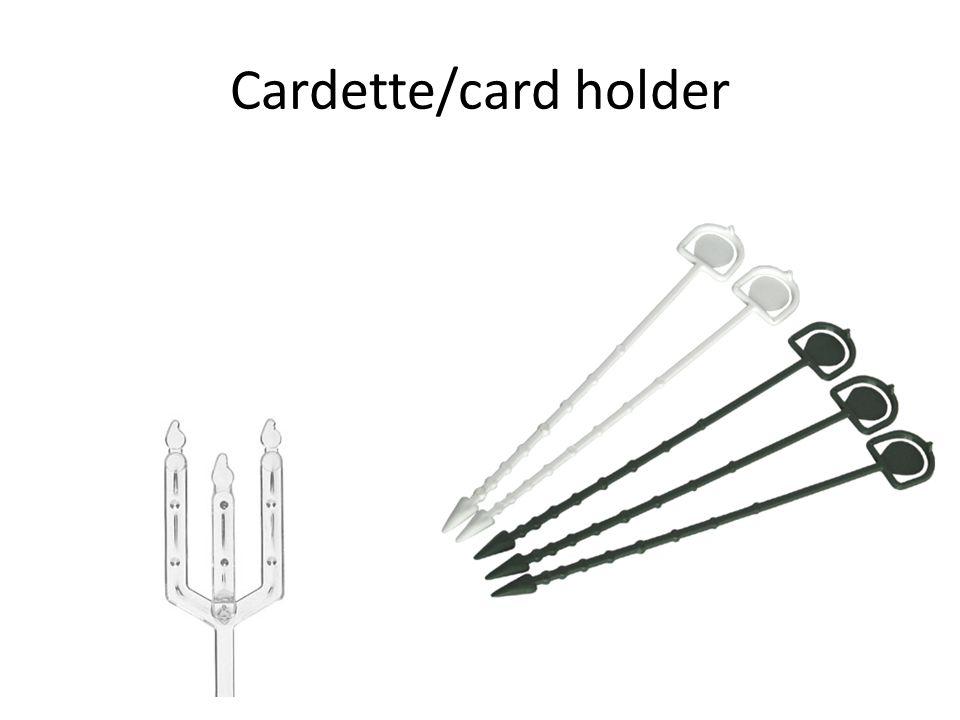 Cardette/card holder