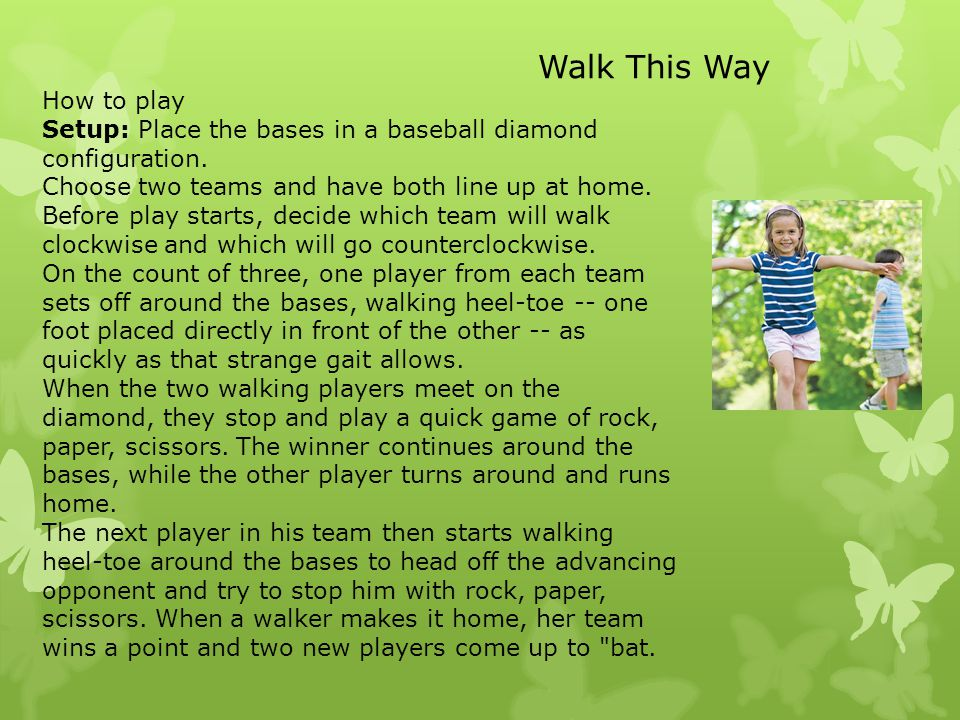 How to play Setup: Place the bases in a baseball diamond configuration. Choose two teams and have both line up at home. Before play starts, decide whi