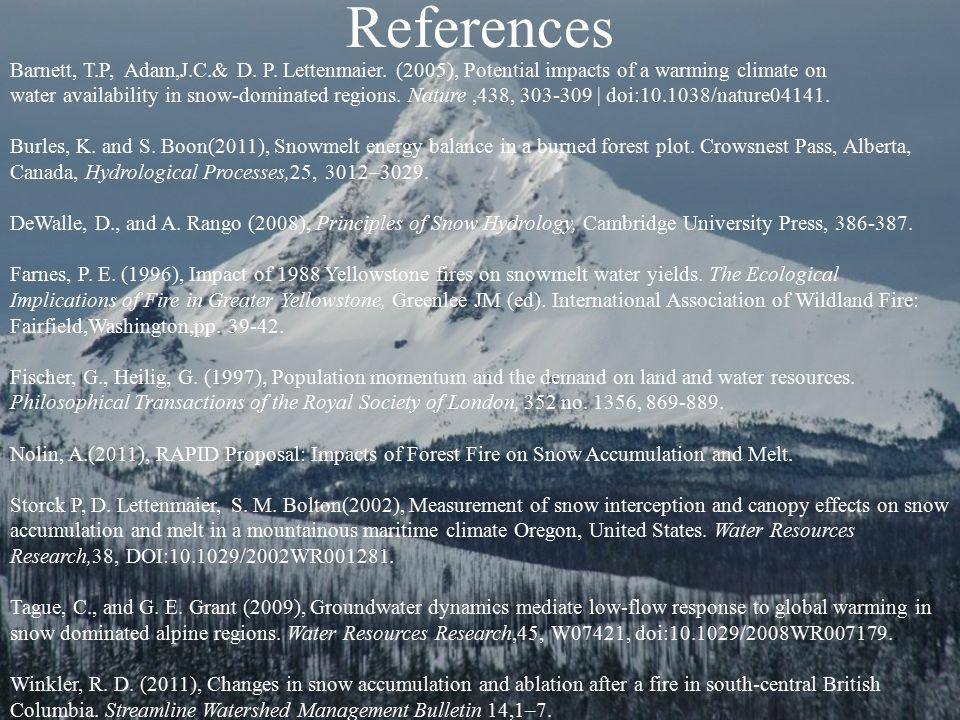 References Barnett, T.P, Adam,J.C.& D. P. Lettenmaier.