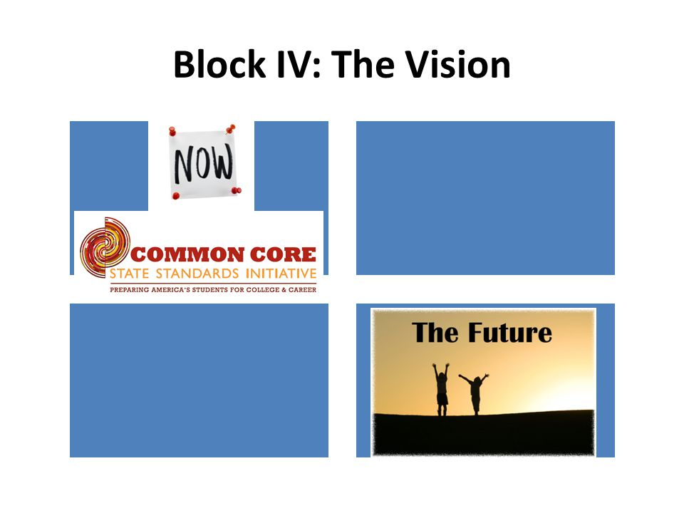 Block IV: The Vision
