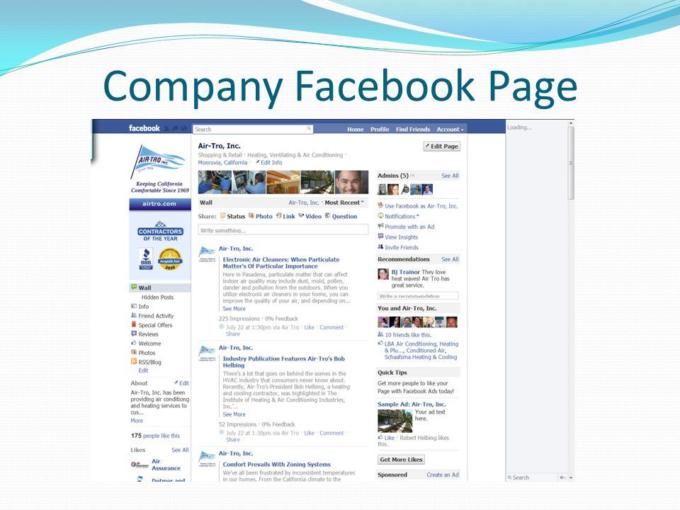 Company Facebook Page