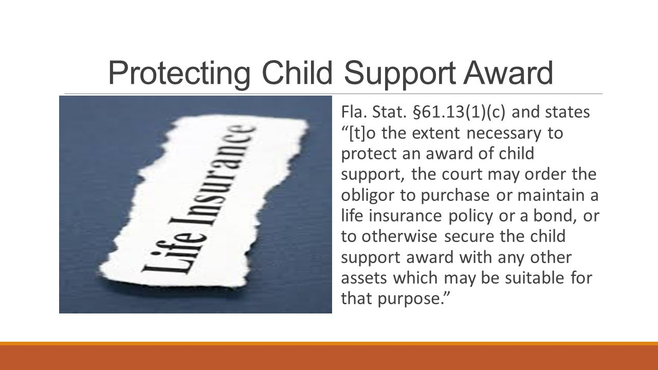 Protecting Child Support Award Fla.Stat.