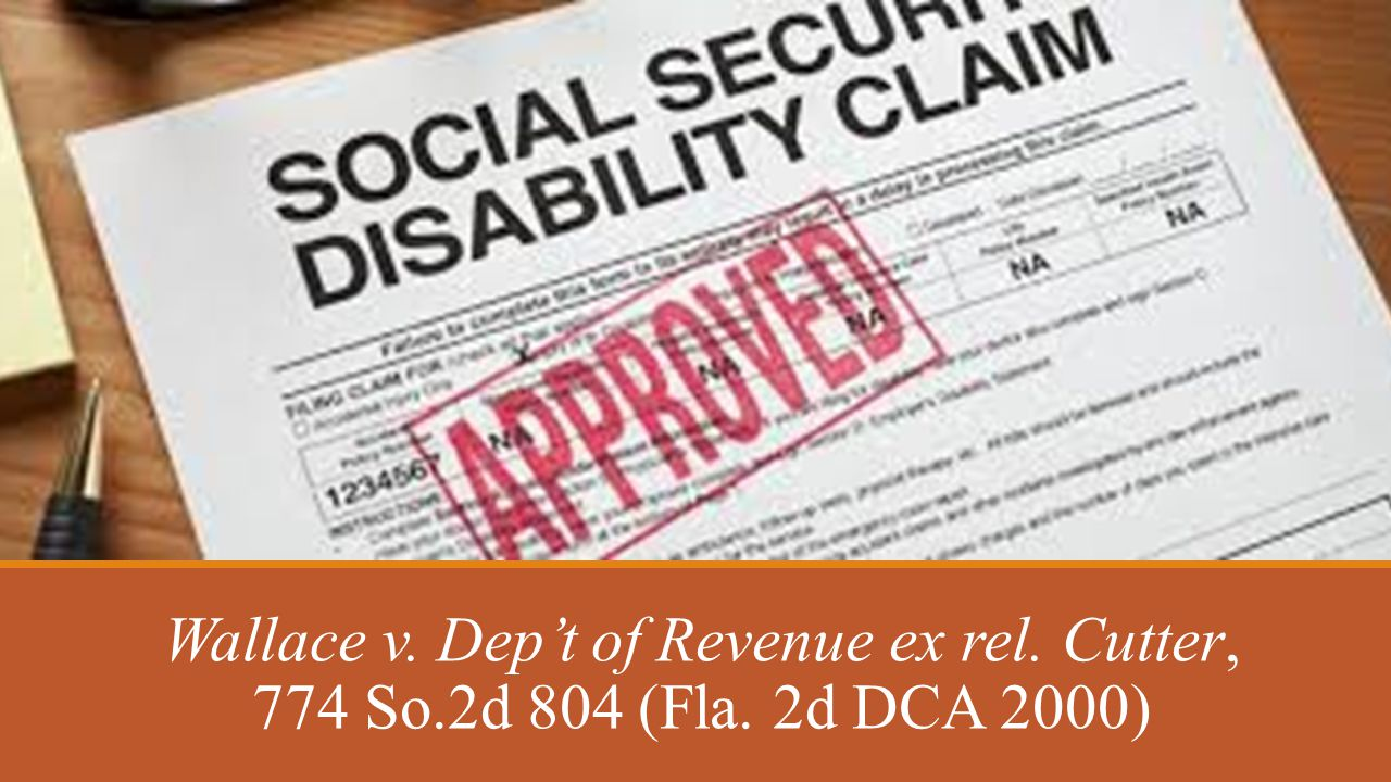 Wallace v. Dep't of Revenue ex rel. Cutter, 774 So.2d 804 (Fla. 2d DCA 2000)