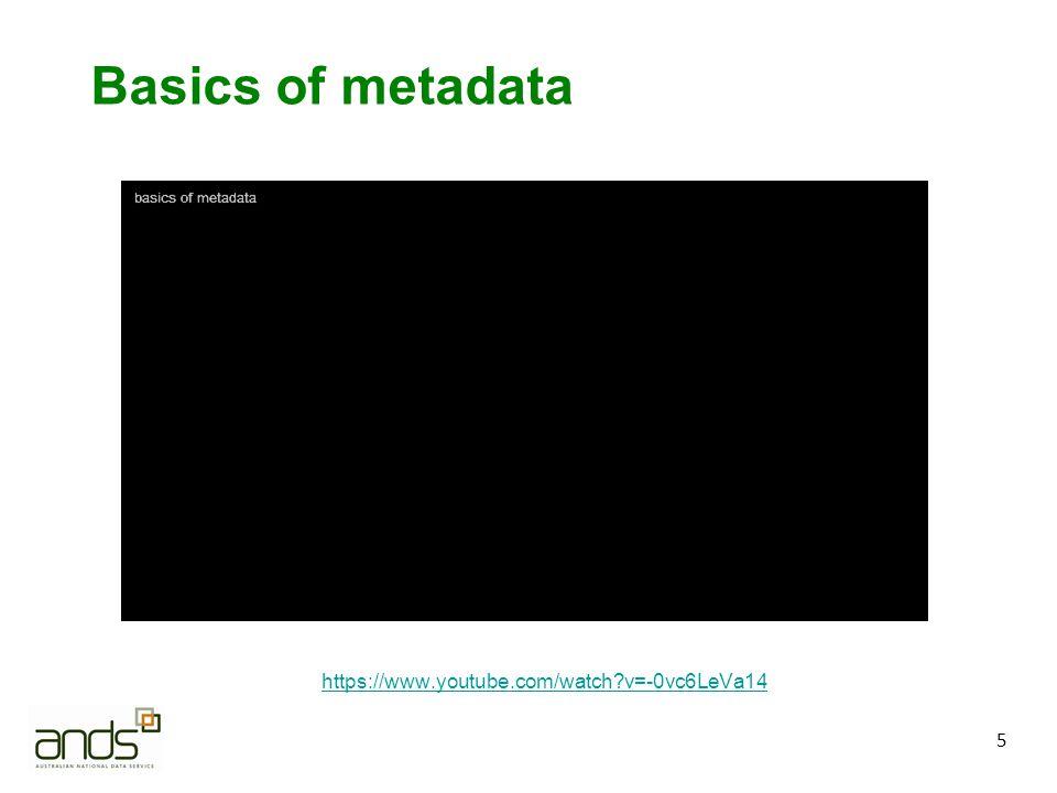 16 Acknowledgements DataONE Education Module: Metadata.