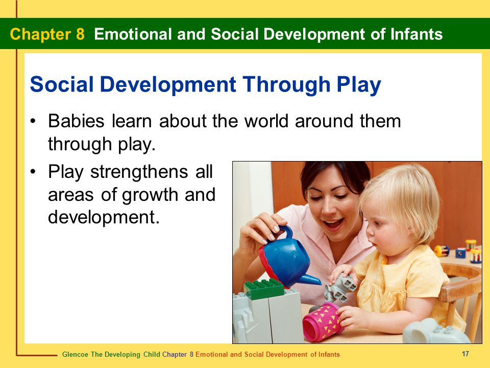 Glencoe The Developing Child Chapter 8 Emotional and Social Development of Infants Chapter 8 Emotional and Social Development of Infants 17 Social Dev