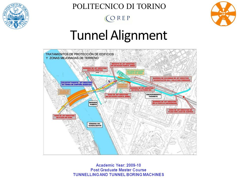 Academic Year: 2009-10 Post Graduate Master Course TUNNELLING AND TUNNEL BORING MACHINES POLITECNICO DI TORINO Tunnel Alignment