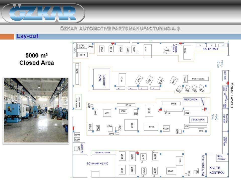 Lay-out 5000 m² Closed Area ÖZKAR AUTOMOTIVE PARTS MANUFACTURING A. Ş.