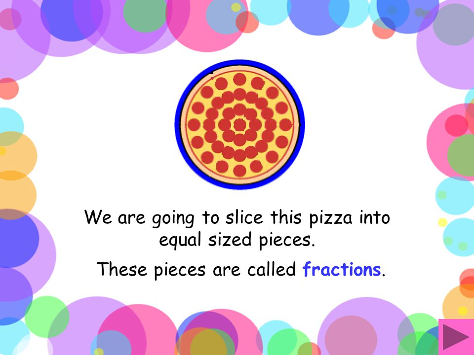 Fractions An Interactive Activity introducing halves