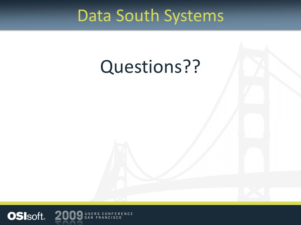 Data South Systems Questions