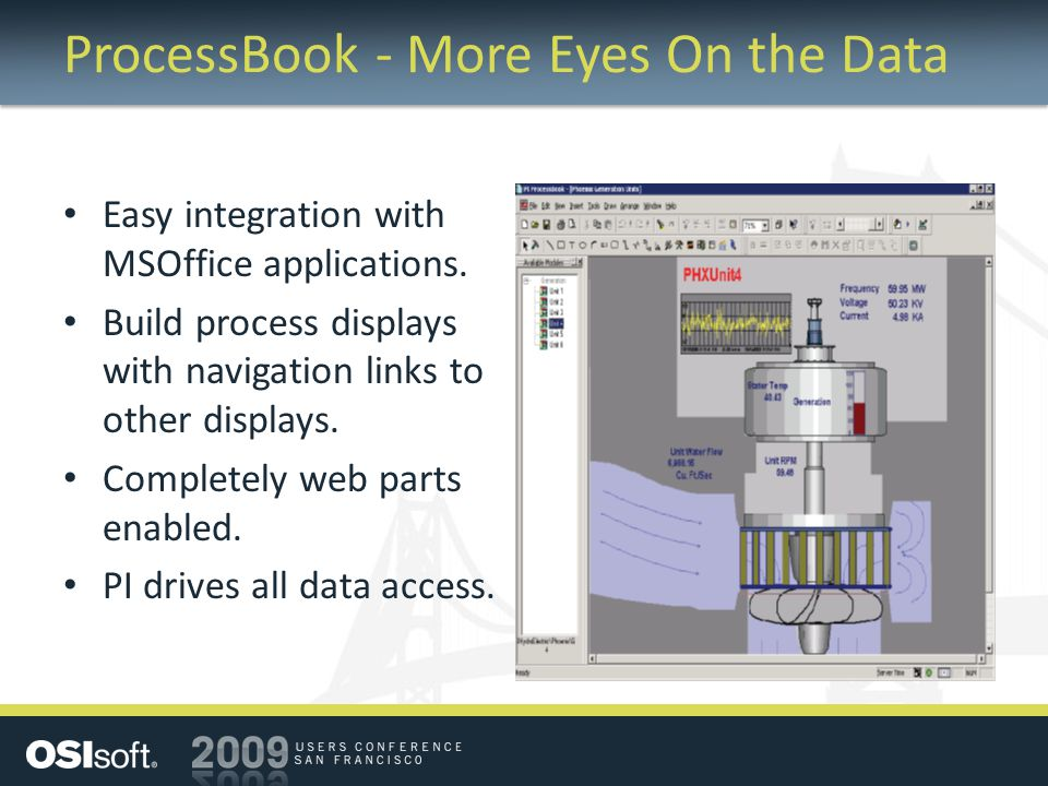 ProcessBook - More Eyes On the Data Easy integration with MSOffice applications.