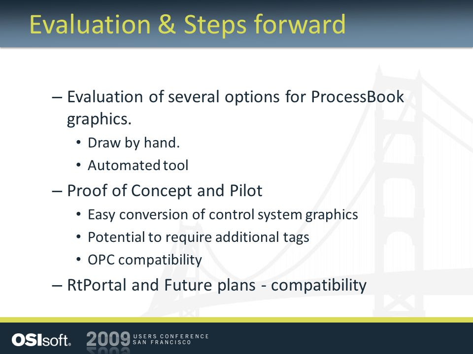 Evaluation & Steps forward – Evaluation of several options for ProcessBook graphics.