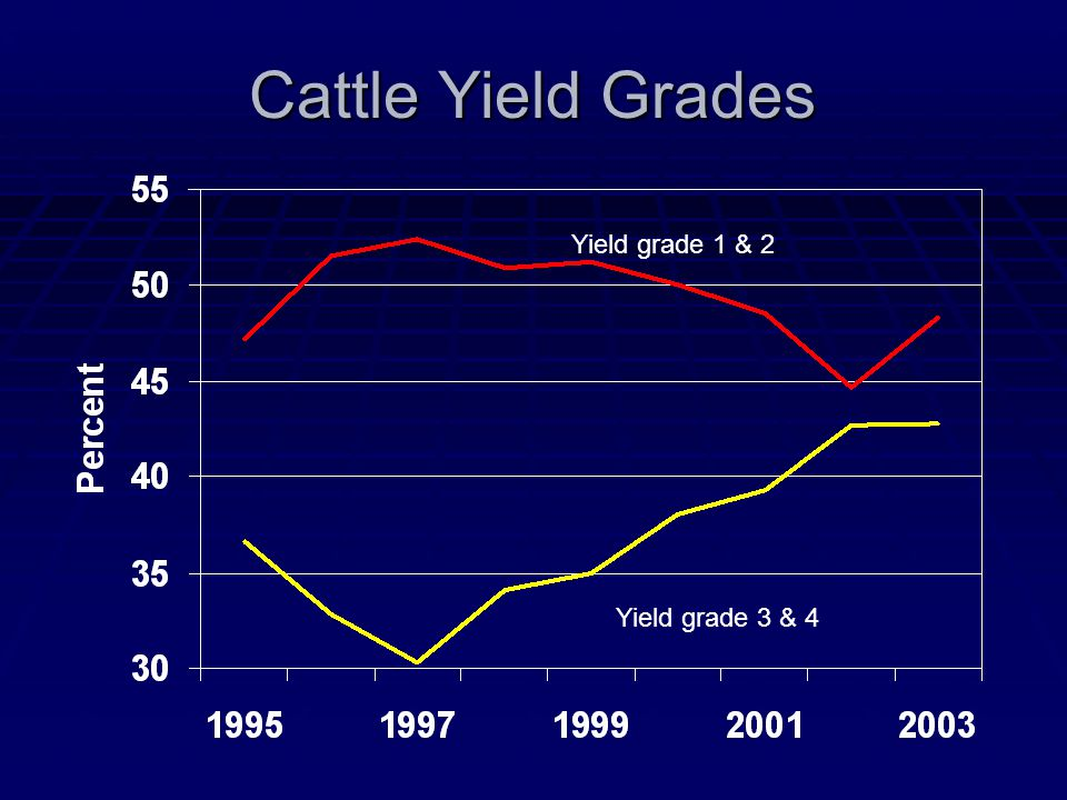 Cattle Yield Grades Yield grade 1 & 2 Yield grade 3 & 4