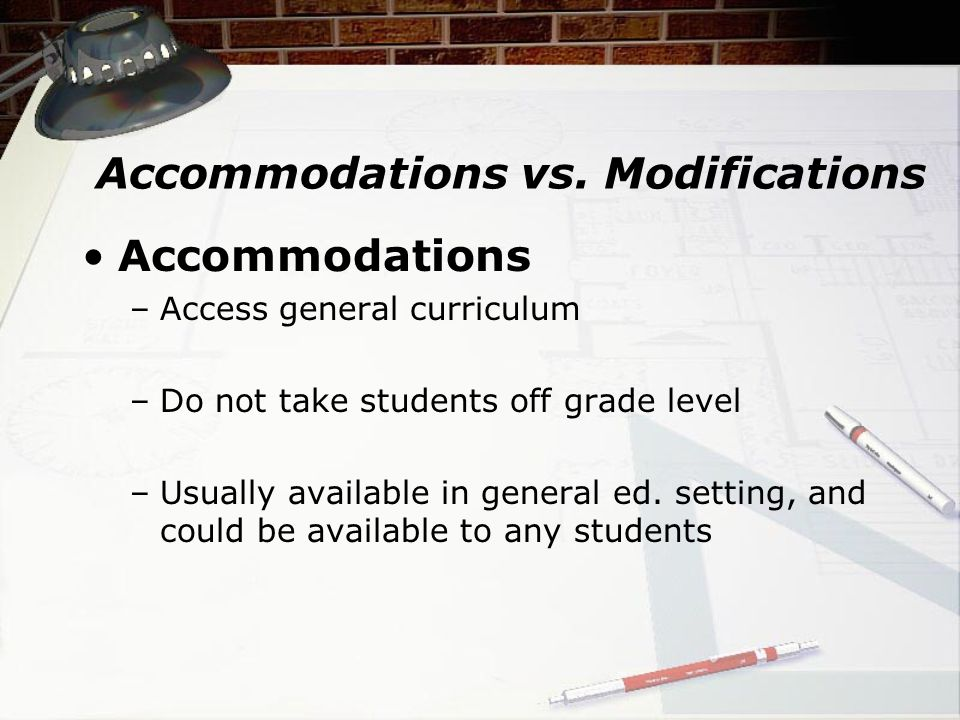 Accommodations vs.