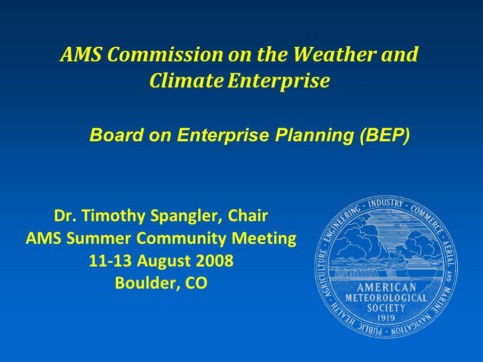 Talk Overview  BEP Charter  BEP Membership  Annual Partnership Topic (APT)  BEP Status Update Mesoscale Observing Networks APT Building America's Resilience to Hurricane Disasters APT New APT for 2008