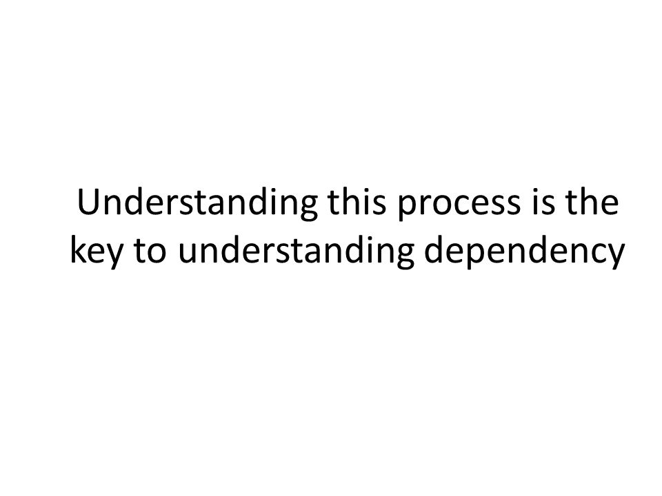 Understanding this process is the key to understanding dependency