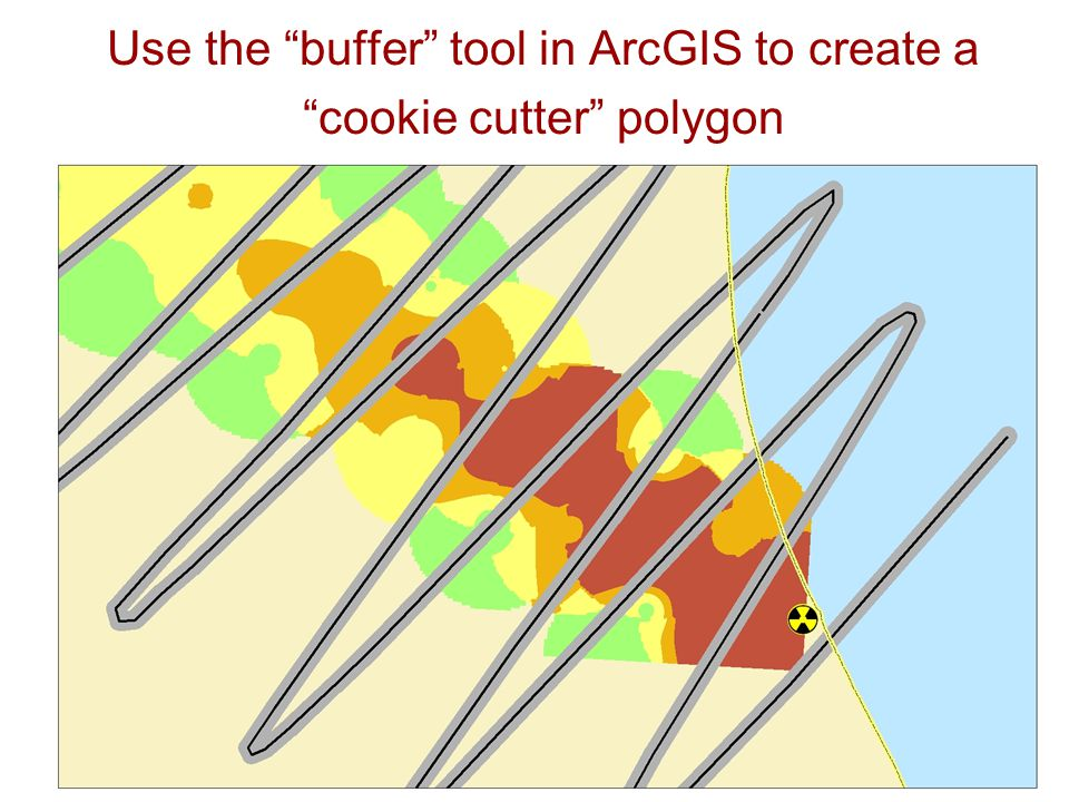 Use the buffer tool in ArcGIS to create a cookie cutter polygon