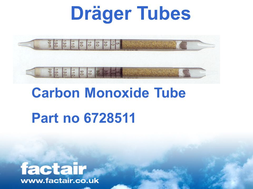 Dräger Tubes Carbon Monoxide Tube Part no 6728511
