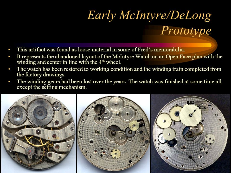 Early McIntyre/DeLong Prototype This artifact was found as loose material in some of Fred's memorabilia. It represents the abandoned layout of the McI