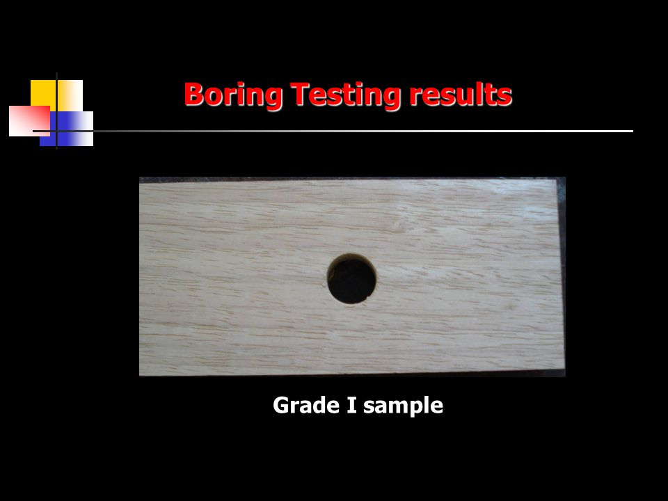 Boring Testing results 钻孔试样(孔上周缘) Grade I sample
