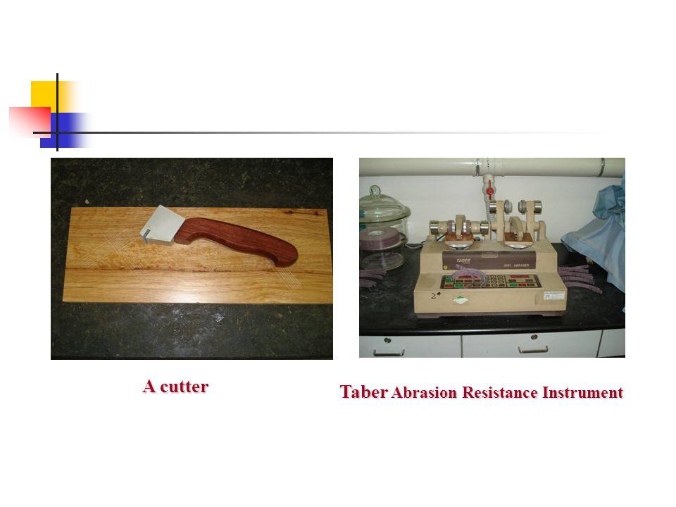 A cutter Taber Abrasion Resistance Instrument